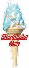 SOFT ICE CREAM BLUE SHERBET CONE, STICKER, DIE-CUT UV LAMINATED