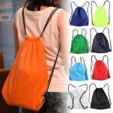 Drawstring Bag Duffle Backpack Sport Gym Beach Waterproof Sack Swimming Travel J