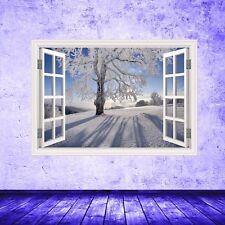 A Todo Color Navidad Bosque Ventana Adhesivo Pared Pegatina con Imagen Wsdw45