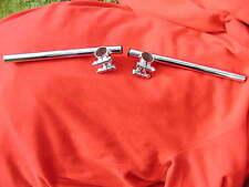 """NEW pair of superb chrome 35mm CLIP ON 7/8"""" HANDLEBARS-CAFE RACER/CUSTOM-clipon"""