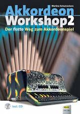 Akkordeon Workshop 2 ,  mit Audiobeispiele  auf CD,   accordion sheet music book