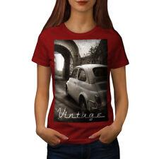 Car Retro Funky Vintage Women T-shirt NEW | Wellcoda