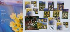 Rumänien 2019 Blumen,Berge,Enzian,Schlüsselblume Mi.7595-600 A,KB,Block 804,FDC