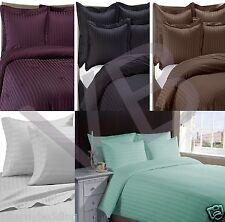 500 fils de classique à rayures 100% coton égyptien literie de choix de 7 couleurs