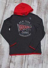 GAP Kids Boys Sz 4-5, 10-11, 12, 13 NEW Gray Red Sports Hoodie Shirt Long Sleeve