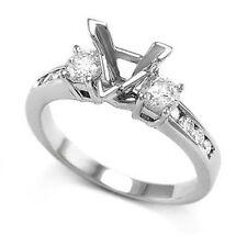 14K WHITE GOLD TRILLION DIAMOND ENGAGEMENT RING SETTING Item #: R855