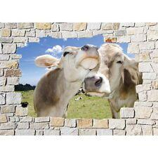 Pegatinas de pared trampantojo l'ojo piedra decoración Vacas 8534
