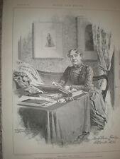ATTORE e manager Mary Anne Keeley a 86 old print e dell'articolo 1891