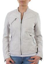 Oakwood Leather Jacket Women Hall New 61682 White