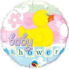 baptême Canard caoutchouc bain fleurs 45.7cm Fête Ballon plat Qualatex