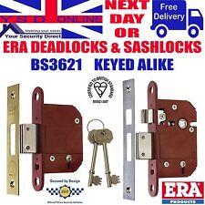 """ERA Deadlocks/Sashlocks Keyed Alike 2.5""""-3.0""""  BS3621 All locks on the same key"""