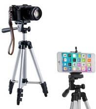 Portable Professional Adjustable Camera Tripod Stand Mount + Smart Phone Holder