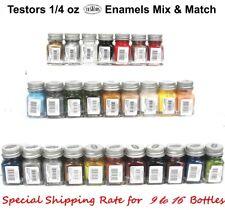 Testors Enamel 1/4 oz Gloss, Flat & Metallic Paint Bottles
