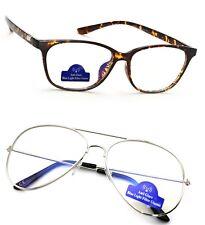 89d092cd299 Women Men Clear Lens Anti Glare Glasses TV PC Computer Gaming Blue Light  Filter
