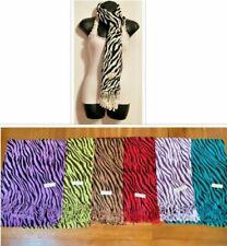 Men's Women's Cashmere Scarf Wrap Black/White Zebra Print 70%pashmina 30%silk