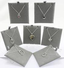 Pendientes De Plata Esterlina Colgante de Corazón y collar Varios Estilos