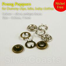 Press stud Snap fastener Popper Nickel Free Dummy clip Bib Baby clothes 9.5-11mm