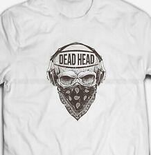 Mens Womens Fashion Rebel Skull Bandit S-XXXL White Cotton T-shirt Tshirts Tee