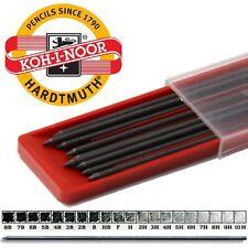 12 Graphit Bleistiftminen für Fallbleistift Ø2mm Schwarz Härten wählbar 8B - 10H