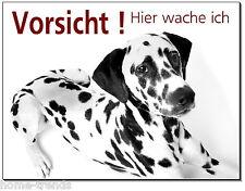 Dalmatiner-Hund-Alu-Schild-15x10 oder 20x15 cm-Türschild-Warnschild-Hundeschild