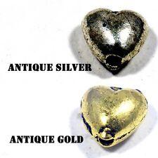 #76 Metal Bali Tibetan Beads Heart Antique Gold Antique Silver,Beading Jewellery