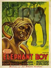 REPRO DECO AFFICHE CINE ELEPHANT BOY ZOLTAN KORDA BOA SUR PAPIER 310 OU 190 GRS