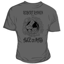 Genki Robert Rankin Alice en Marte & Cheshire Cat Wonderland Gris ajustada Camiseta