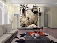 3D Rhinoceros 125 Wall Paper Wall Print Decal Wall Deco Indoor AJ Wall Paper