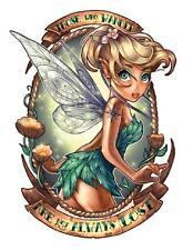 Bügelbild Tinkerbell Tattoo mal anders auf  DIN A5 ca 13x18cm