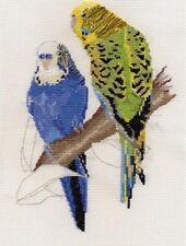 Cockatiels, Leadbeaters Cockatoo, Budgies/Budgerigars cross stitch kits 14s