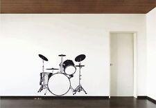 Tamburi KIT Batteria Adesivo vinile da parete DECALCOMANIA GRAFICA GRANDE