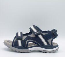 GEOX BOREALIS J720RB Sandali Bambino Junior con strappi in tessuto e pelle  blu 27ed01bed50