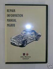 MG RV8 REPAIR INFORMATION MANUAL ON CD, GENUINE (CDMGRV8)