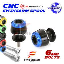 6mm Rear ATOM Swingarm Spools Sliders For Yamaha YZF R6S 2003-2008 03 04 05 06