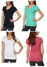 Kirkland Signature Ladies Premium Peruvian Cotton V-Neck T-Shirt Tee XS S, M, XL
