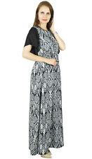 Bimba Women Boho Gothic Style Long Maxi Dress Frilled Kimono Sleeves- Elastic Wa