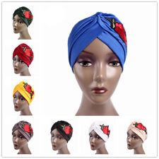 Women Indian Embroidery Hat Hijab Headwrap Turban Cap Hijab Head Wrap Caps Hat