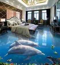 3D delfino acquario Pavimento Foto Wallpaper Murales Muro Stampa Decalcomania