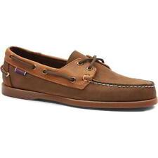 Sebago Portland Rookies Mens Leather Boat Deck Shoes Brown Size 8-12