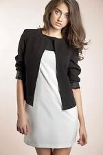 Veste Noire de Tailleur Femme Courte Chic Boléro Z02 Nife 36 38 40 42 44