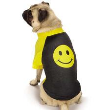 Casual Canine Smiley Face Raglan Dog T-Shirt Pet Tees Smile Top Tee Black