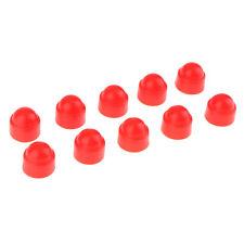10pcs plastique rouge dôme hexagone boulon de protection des écrous de