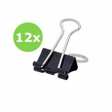 12 x Foldback Klammern Briefklammer Büroklammer Clips Binder Soennecken