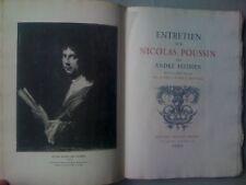 Entretien sur Nicolas Poussin 500ex joseph Aynard 1929