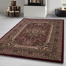Orientteppich kurzflor Pflegeleicht Orientalisch Traditional Medaillion Rot