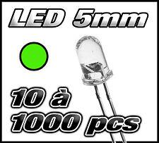 """E409# """"Livraison gratuite"""" LED verte 5mm de 10 à 1000pcs"""
