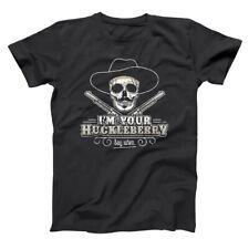 Im Your Huckleberry Funny  Humor  Western  Cowboy  Nra Black Basic Men's T-Shirt