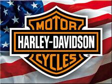 Harley Davidson Stars and Stripes metal fridge magnet (na)