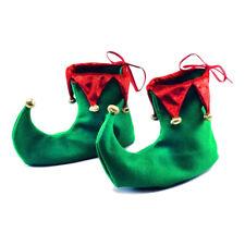 Navidad Fancy Dress señalado Duende Pixie Hada Zapatos cubrir Accesorio Disfraz