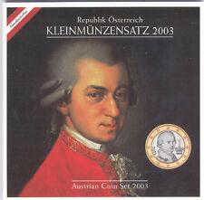 Austria 2003 - Official (BU) Euro Coin Set